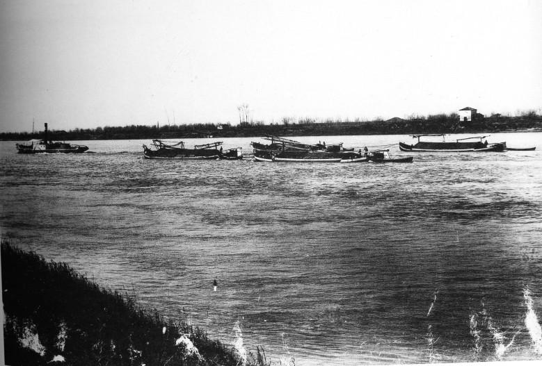 Il fiume Po intorno al 1920
